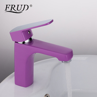 FRUD 1 Set Innovative Home Bath Basin Faucet Cold And Hot Water Taps Purple Spray Painting