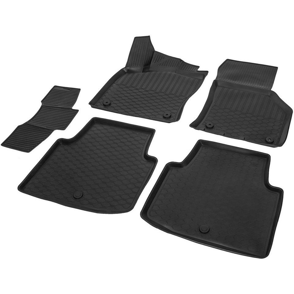 3D floor mats into saloon for Skoda Superb B8 2016-2019 5 pcs/set (Rival 15104002) rubber floor mats into saloon for skoda rapid 2013 2019 5 pcs set rival 65102001