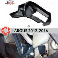 Pies cálidos para Lada Largus 2012-2016 deflector horno de deflector plástico ABS en relieve accesorios de decoración