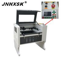 JNHXSK 2019 new machine laser engraver cutter 4060 100w engraving cutting stone plywood Acrylic cloth sample desktop move CO2