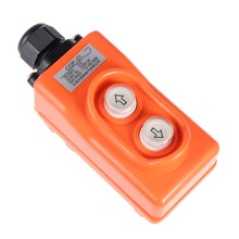 UXCELL Rainproof Hoist Crane Pendant Control Station Push Button Switches COP-21 Up Down 2 Ways Orange For and