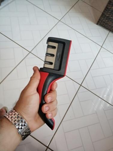 Дропшиппинг Ножи точилка быстро точилка профессиональный 3 этапов точилка Ножи Точильщик нескользящей Силиконовой Резины