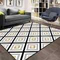 Else szary biały żółty opowieści geometryczne etniczne 3d drukuj antypoślizgowe mikrofibry salon dekoracyjne nowoczesne zmywalny dywan do składania Mat