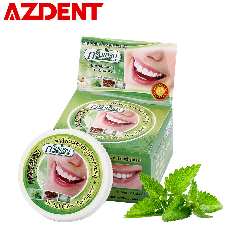 25g Herbal Clove Mint Toothpaste Thailand Dentifrice Whitening Teeth Remove Black Yellow Stain Dental Antibacterial Allergic Gel