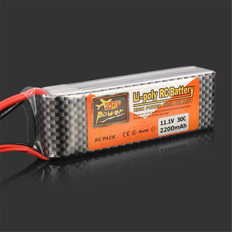 Hot New Rechargeable ZOP Power 11.1V 2200MAH 3S 30C Lipo Battery XT60 Plug RC Helicopter Spare Parts Accessories high quality zop power 14 8v 2200mah 4s 45c lipo battery t plug rechargeable lipo battery for rc helicopter part
