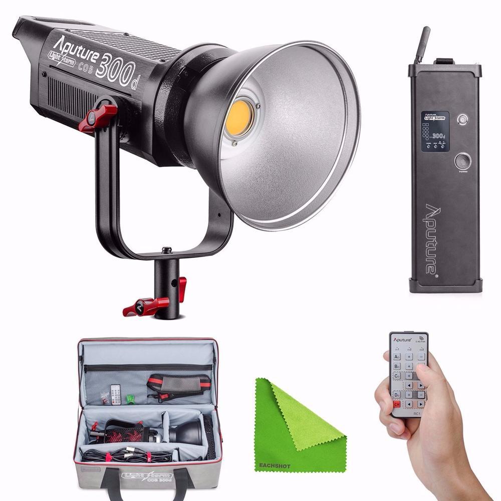 Aputure COB C300D 300D 300W 5500K Daylight Balanced LED Continuous Studio Video Light 2.4G Remote Control 18dB Low Noise Light