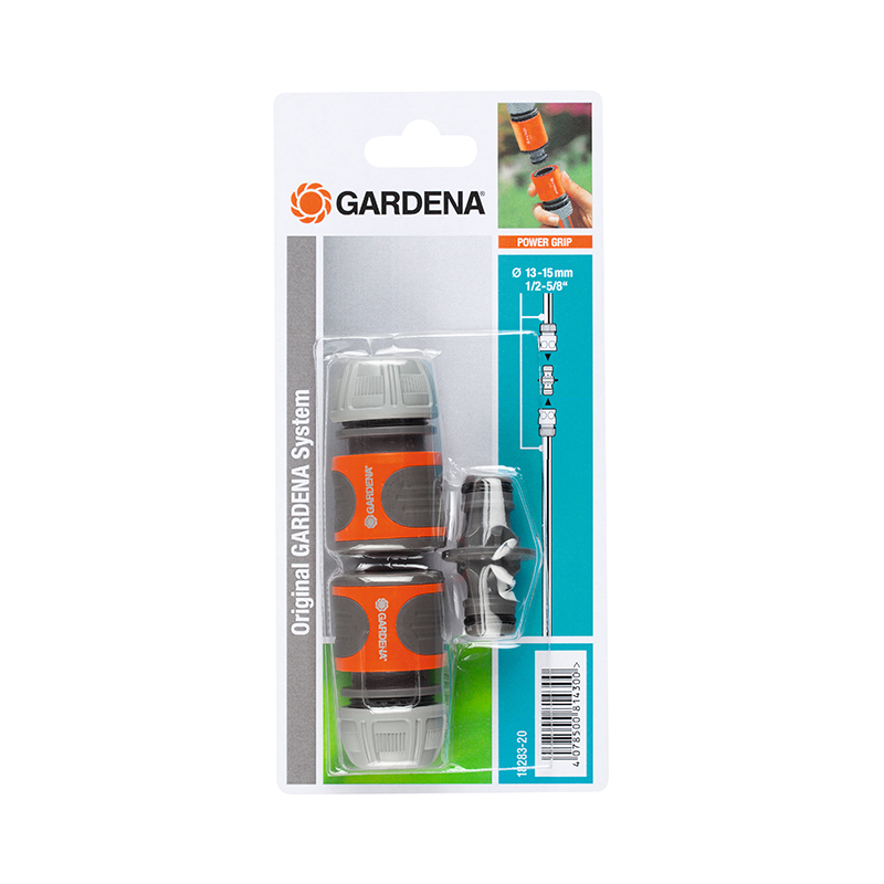 Garden Water Connector GARDENA 18283-20 13-15 mm (1/2-5/8) black elbow design 6mm pu tube to 1 8 pt male thread pneumatic quick fittings joint connector 5 pcs