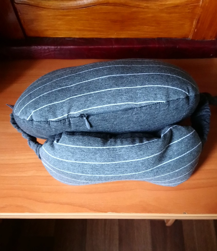 Portable best travel neck pillow for long flights (Includes Free Eye Mask ) photo review