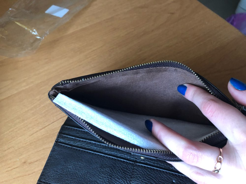 Mingclan Women Wallet Clutch Genuine Leather Rfid Wallets Female Organizer Cell Phone Clutch Bag Long Zipper Coin Purse Pocket photo review