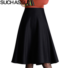 цены Fall Winter Women Grinding Woolen Skirt 2019 New Fashion Black Brown A Line High Waist Pleated Skirts S-3XL Office Lady Skirt