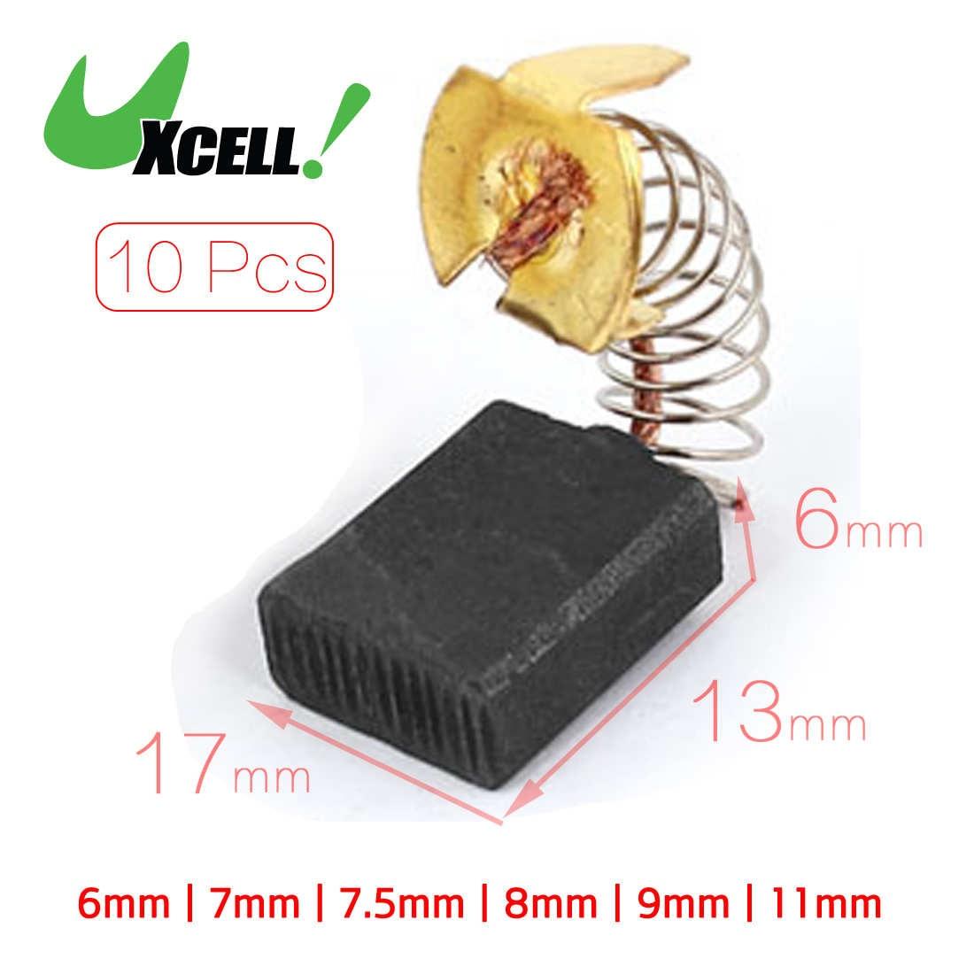 Dmiotech 10 Pcs Spring Carbon Brush Replacement For Power Drill 11mm 13mm 15mm 16mm 17mm 6mm 7.5mm 7mm 8mm