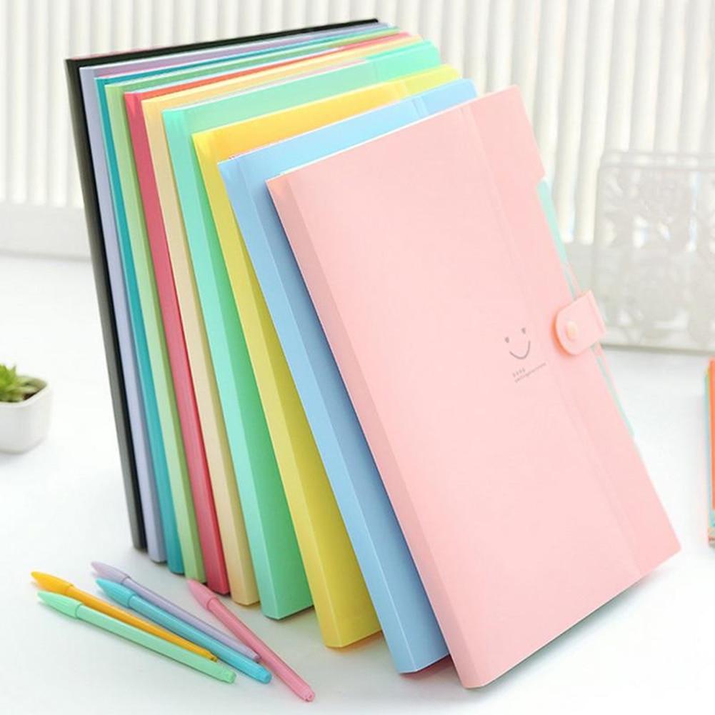 10 couleurs Carpetas étanche bureau plastique dossiers Multi poche organisateur A4 fichier Expansion Document dossier classeur (gudetama)