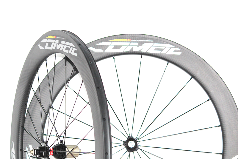 New Aerodynamic U shape Carbon Tubular Clincher Wheelset 50mm 25mm Wideth 60mm 700C Road Bike Wheels