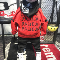 3pcs boys fashion clothing set kids red long sleeve coat striped hooded t shirt and black pant set baby all match clothes 2 7T
