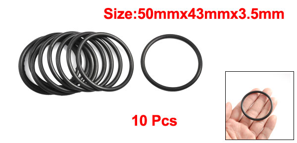10 Pcs 37mm-50mm OD 3.5mm Thick Industrial Red Silicone O Ring Seal