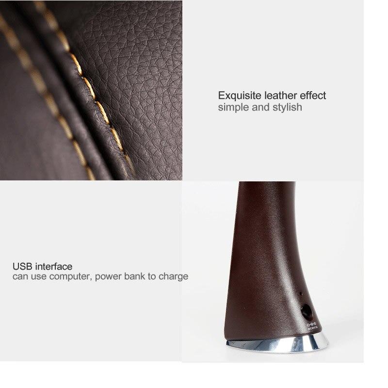 Lâmpadas de Mesa lcd de alarme relógio calendário Acabamento : Leather tipo