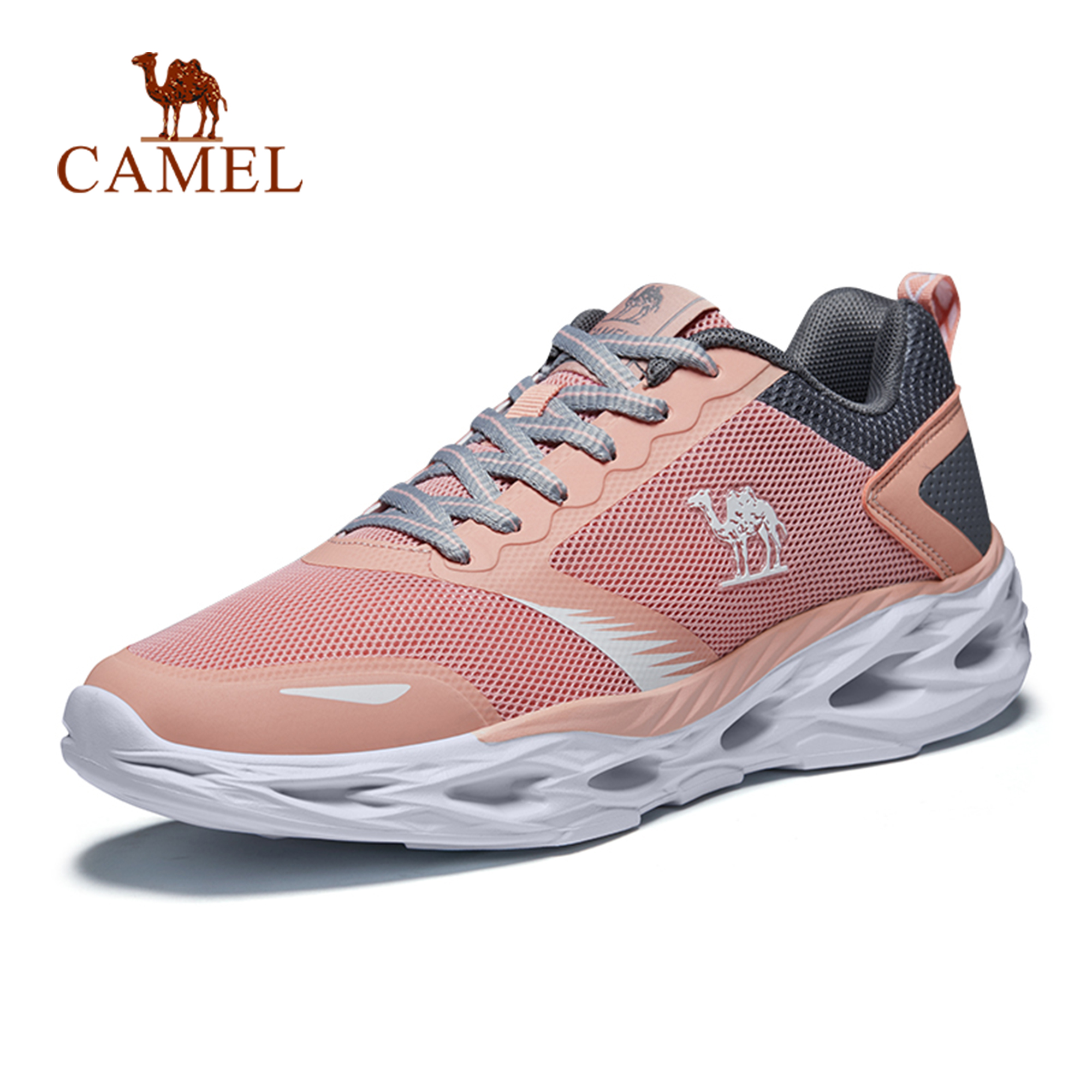CAMEL Men Women Running Shoes Shock Absorption Cushion Breathable Lightweight Comfortable Footwear Outdoor Sports Sneakers