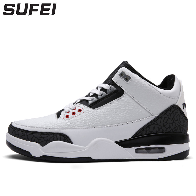 sufei Men Basketball Shoes Outdoor Comfortable Air Cushioning Athletic Sports Training Lightweight Sneakers peak men athletic basketball shoes tech sports boots zapatillas hombres basketball breathable professional training sneakers