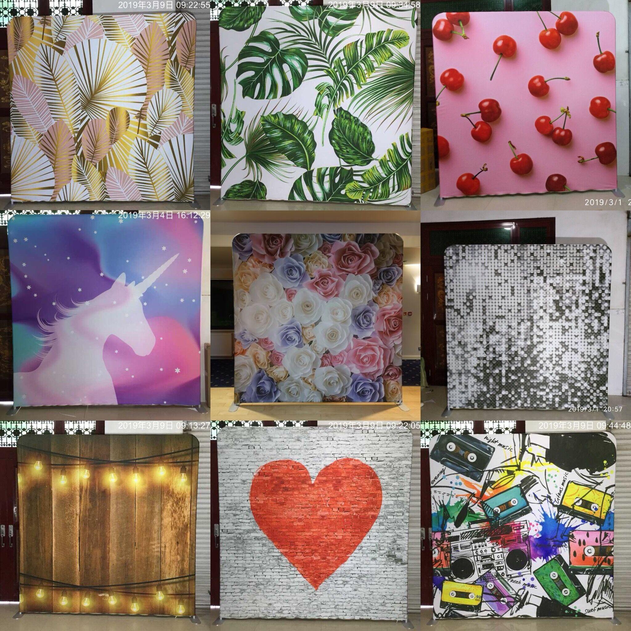 تخصيص 2 جهين طباعة pillowcover النسيج خلفية لا حامل-في خلفيات للحفلات من المنزل والحديقة على  مجموعة 1
