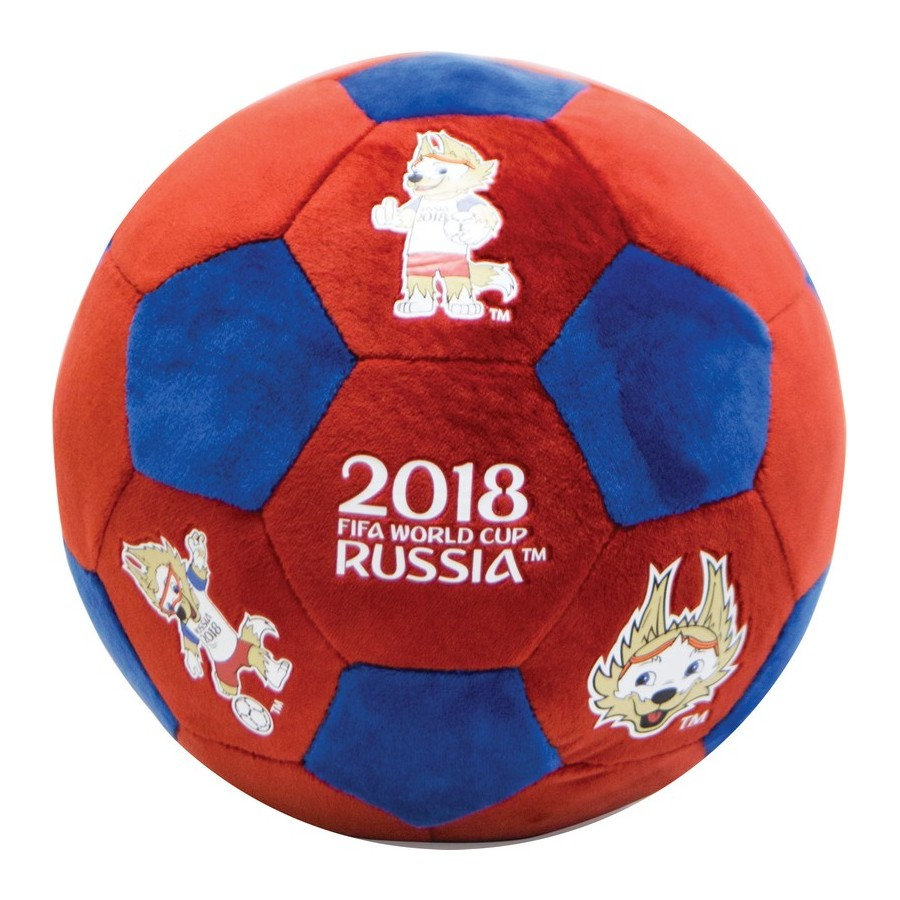 FIFA WORLD CUP RUSSIA 2018 plush ball with thermalprint 22 cm red-blue double plush blanket with wave point thickening