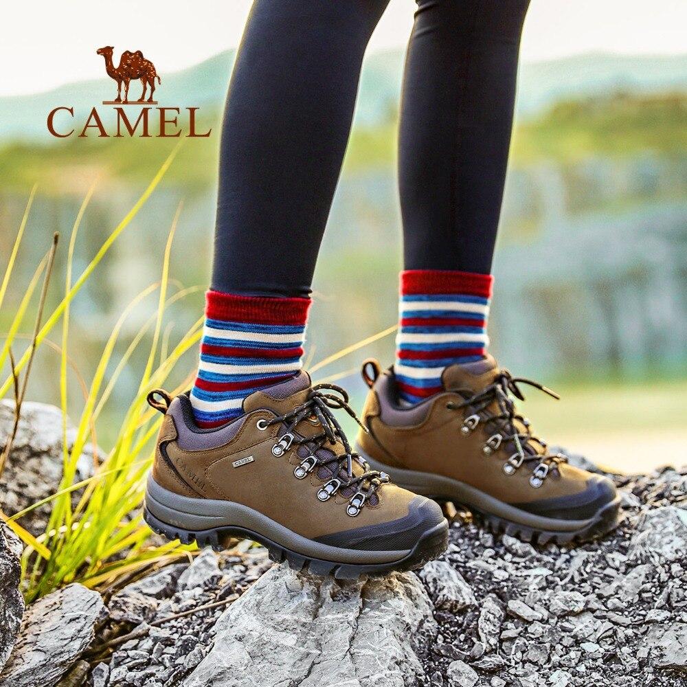 Image 5 - Мужские и женские беговые кроссовки CAMEL, кожаные Нескользящие  дышащие треккинговые кроссовки для альпинизмаhiking shoesmen hiking  shoesshoes hiking
