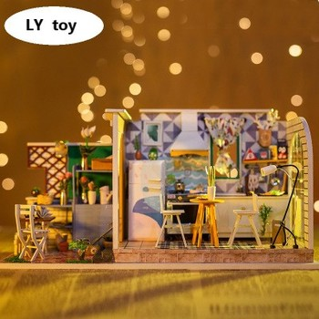 Hot New Product DIY Hut Static Model Puzzle Handmade House Modern Style Creative Gift