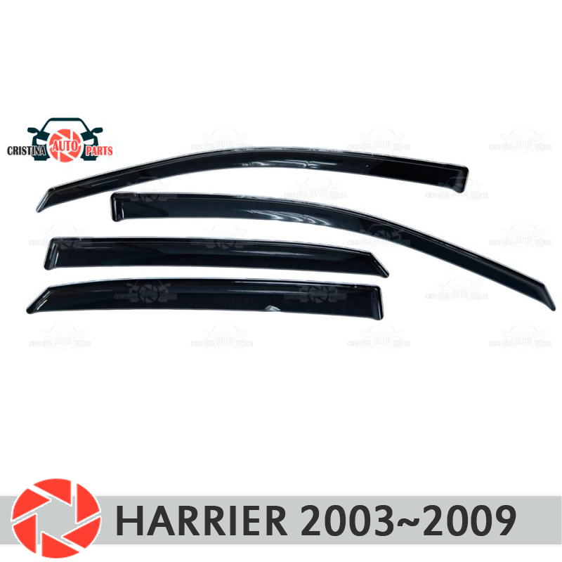 Window deflector for Toyota Harrier 2003~2009 rain deflector dirt car styling decoration accessories molding