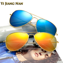 купить Yi Jiang Nan Brand 2018 New Fashion Aviator Full Rim Alloy Frame Sunglasses Men Polarized UV400 Gafas de Sol de Los Hombres дешево