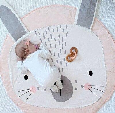 90 Cm Ronde Baby Speelmat Nursery Kleed Kruipen Mat Teepee Vloermatten Soft Play Tapijten Creeping Kinderen Kamer Decoratieve Tapijt Pads
