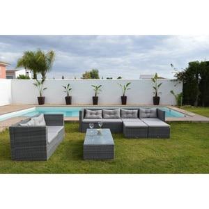 Image 3 - KieferGarden. Sofa Terraza esquina, 6  modulos sofa central, 2 taburetes,2 mesas. SAN FRANCISCO DELUXE. sofas jardin esquinas.