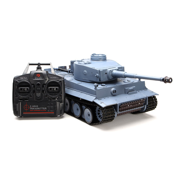 Meilleur achat ) }}Heng Long 3818-1 2.4G 1/16 Germany Tiger I Tank Radio Control Battle Tank