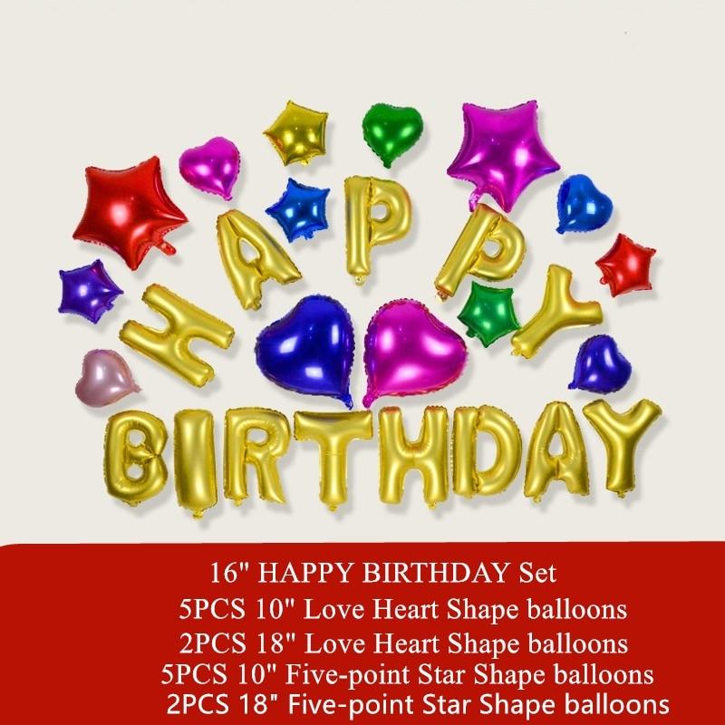 27PCS HAPPY DIRTHDAY Набір повітряних кульок - Святкові та вечірні предмети