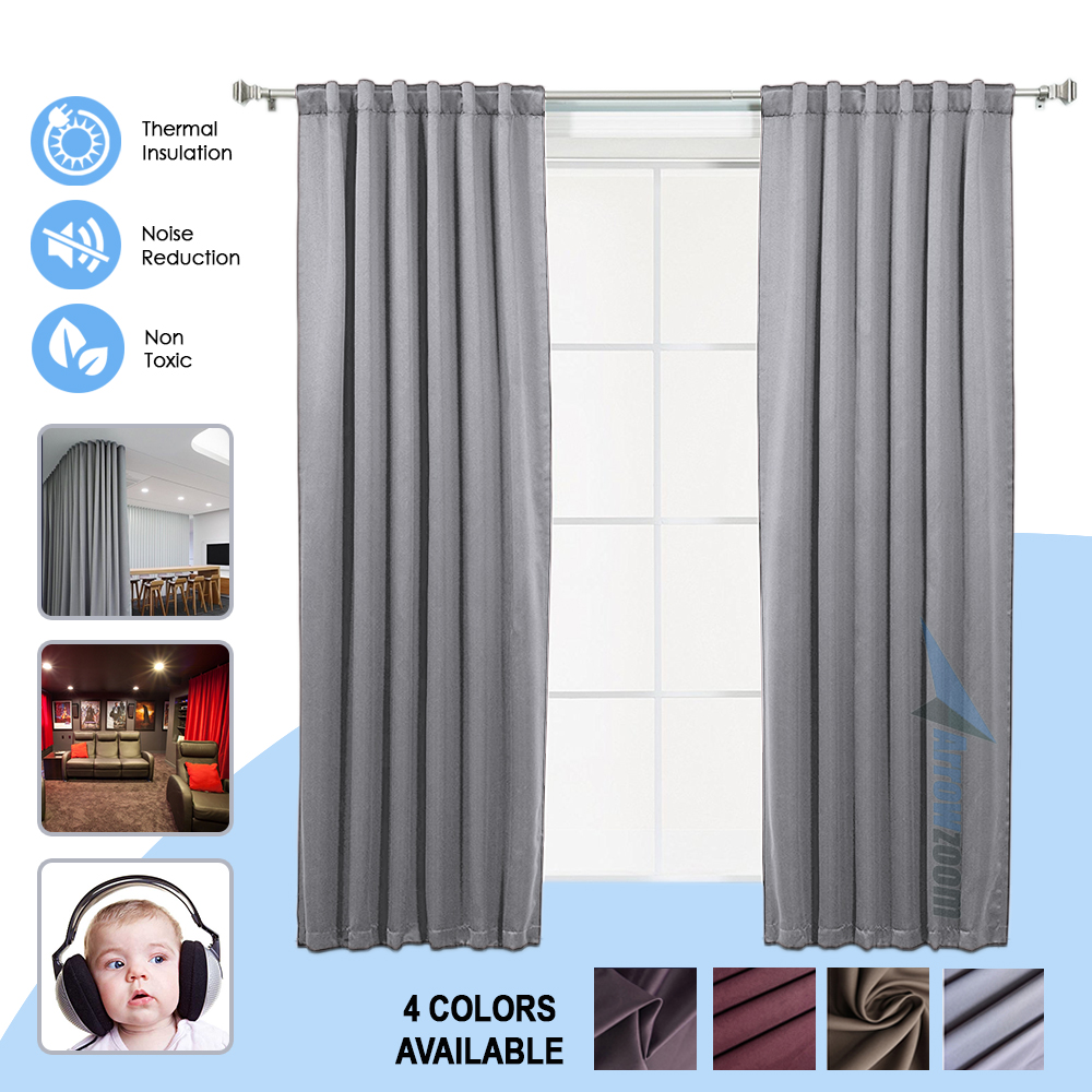 Arrowzoom 1 piece Panel Blackout Sound and Thermal Insulation Window Curtain wave stripe design sun shading blackout curtain