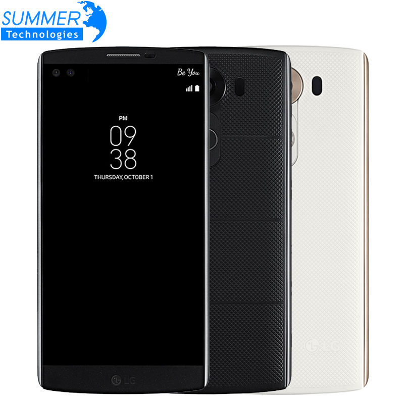 Original Unlocked LG V10 Mobile Phone Hexa Core 5.7'' 4K 4GB RAM 64GB ROM Android 5.1 16.0MP Camera LTE 4G Smartphone