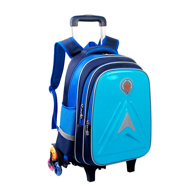 купить Children Trolley School Bags Backpack for Girls Boys Teenagers School Backpacks for Girls with Wheels Removable Trolley Book Bag онлайн