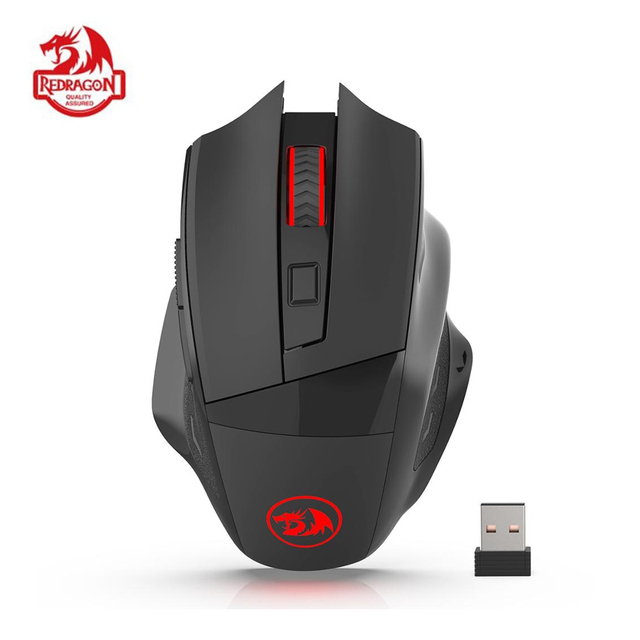Redragon M653 MIG Wireless Gaming Mouse RGB 2.4G USB Receiver Optical Sensor Professional 6 Buttons Office Mice for LOL for MSI