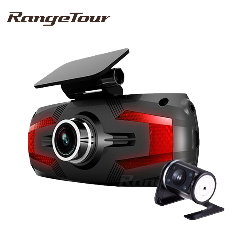 Dual Lens Dashcam Car DVR Dashboard Camera Support Rear Vehicle Camera Full HD 1080P 2 7