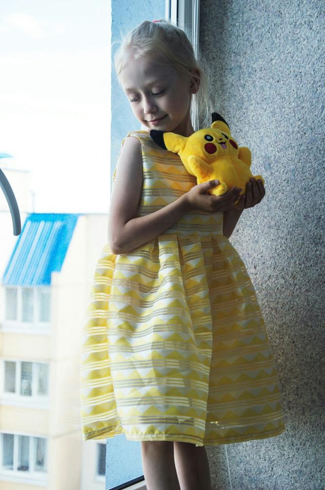 Летнее нарядное платье для девочки с Алиэкспресс
