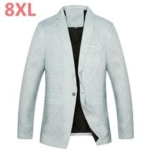 2018 Big 8XL 7XL 5XL 4XL Mens Korean Loose fit fashion cotton blazer Suit Jacket