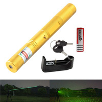 Green Laser Pointer Pen High Power 303 532NM Focusable Burning Bright Starry Laser 18650 Battery Charger