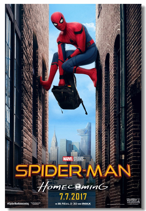 Custom Canvas Wall Mural Spider Man Homecoming Poster