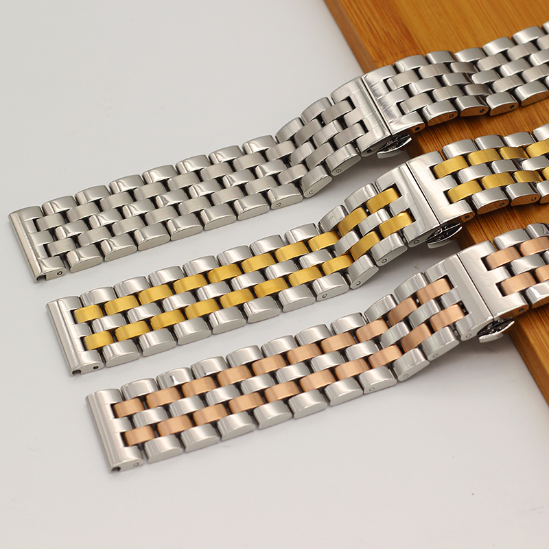 High Quality Solid Strip Steel Watch Strap For Men's And Women's metal Watch Bracelets 16mm 18mm 19MM 20mm 22mm 24mm Watch Band