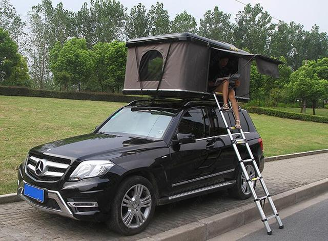 WEIPA OUTDOOR Pop Up Vehicle Tent Hard Shell Roof Top 4WD Tents Universal for Cars Trucks SUVs C&ing Travel Mobile & WEIPA OUTDOOR Pop Up Vehicle Tent Hard Shell Roof Top 4WD Tents ...