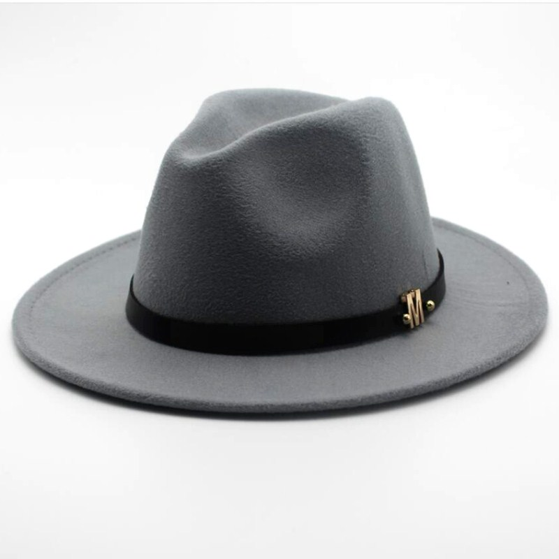 Seioum New Brand Wool Men's Black Fedora Hat For Gentleman Woolen Wide Brim Jazz Church Cap Vintage Panama Sun Top Hat(China)