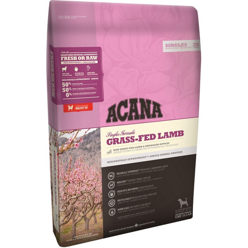Dog Dry Food Acana Dog Grass-Fed Lamb for puppies and adult dogs, Lamb, 6 kg mattress cover lamb comfort