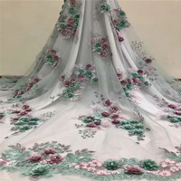 2018 Bridal french Net lace fabric Stones african tulle lace With Biggest stones fabric for Nigerian Wedding Dress HJ1051 1