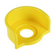 UXCELL 1Pcs 22mm Plastic Half Circle Push Switch Button Protective Cover Yellow Accessories Electrical Equipment Supplies
