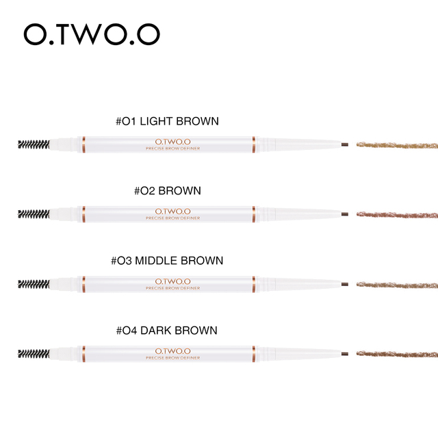 O.TWO.O Eye Brow Pencil Microblading Make Up Ultra Fine 1.5mm Beauty Cosmetic Long-lasting Waterproof Eyebrow Enhancers 4 Color 4