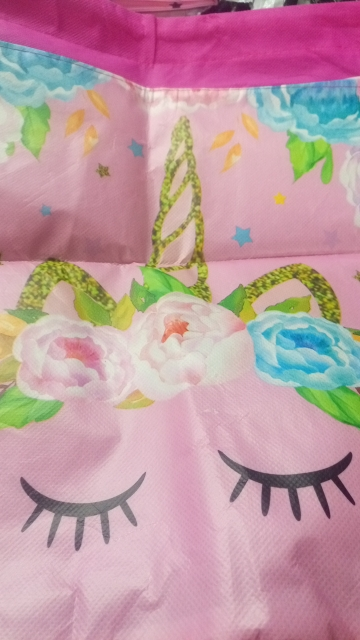 Unicorn Drawstring bag for Girls Travel Storage Package Cartoon School Backpacks Children Birthday Party Favors photo review