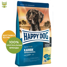 Happy Dog Supreme Sensible Karibik корм для взрослых собак всех пород , Морская рыба, 12,5 кг.